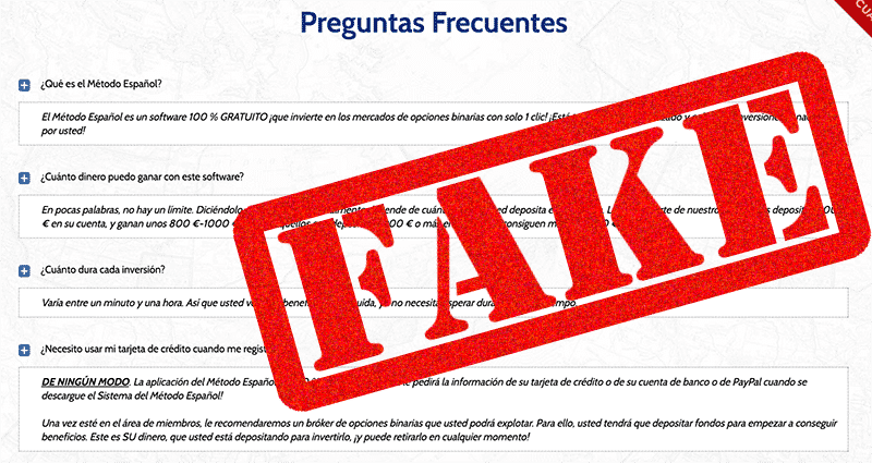 Preguntas frecuentas The Spanish Method no son reales