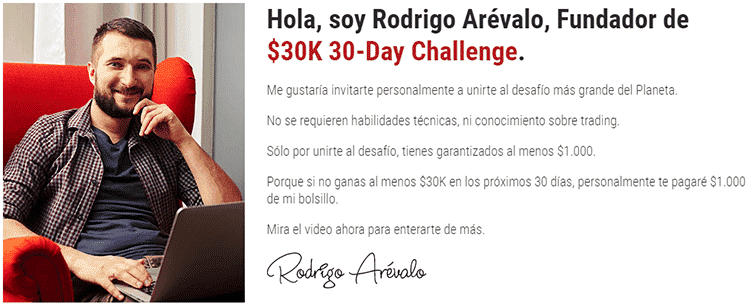 Testimonios falsos de 30 Day 30K Challengue