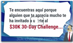 Invitación falsa 30 Day 30K Challengue